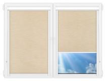 Рулонные кассетные шторы УНИ - Аруба-бежевый