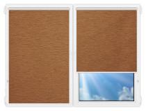 Рулонные шторы Мини - Аруба-коричневый на пластиковые окна