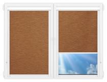 Рулонные кассетные шторы УНИ - Аруба-коричневый