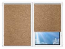 Рулонные шторы Мини - Аруба-темно-бежевый на пластиковые окна