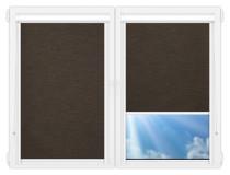 Рулонные кассетные шторы УНИ - Аруба-темно-коричневый
