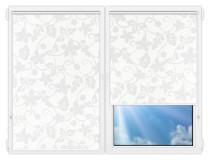 Рулонные шторы Мини - Ажур-белый на пластиковые окна