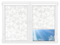Рулонные кассетные шторы УНИ - Ажур-белый