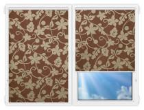 Рулонные шторы Мини - Ажур-коричневый на пластиковые окна