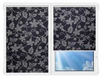 Рулонные шторы Мини - Ажур-серый на пластиковые окна