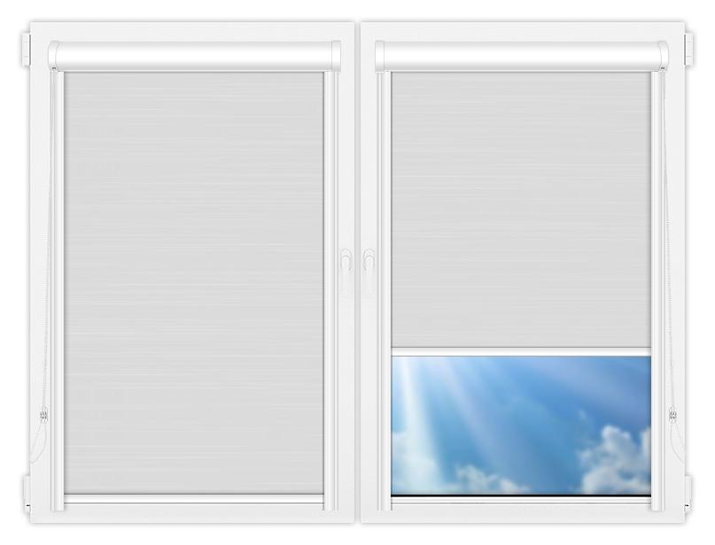 Рулонные кассетные шторы УНИ - Балтик белый