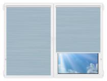 Рулонные шторы Мини - Балтик-голубой на пластиковые окна