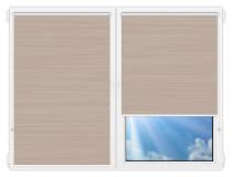 Рулонные шторы Мини - Балтик-коричневый на пластиковые окна