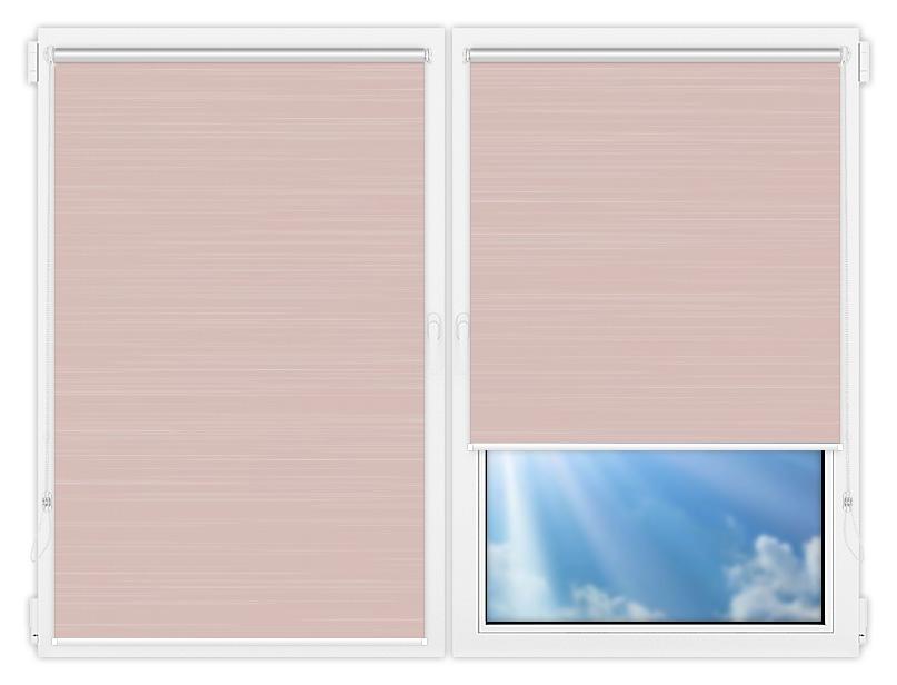 Рулонные шторы Мини - Балтик-розовый на пластиковые окна