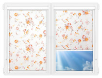 Рулонные кассетные шторы УНИ - Болгарская роза оранжевый