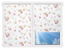 Рулонные шторы Мини - Болгарская-роза-розовый на пластиковые окна