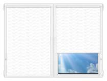 Рулонные шторы Мини - Флора-белый на пластиковые окна