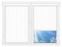 Рулонные кассетные шторы УНИ - Флора белый