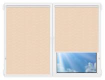 Рулонные шторы Мини - Флора-бежевый на пластиковые окна
