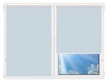 Рулонные шторы Мини - Флора-голубой на пластиковые окна