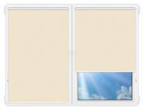 Рулонные шторы Мини - Флора-кремовый на пластиковые окна
