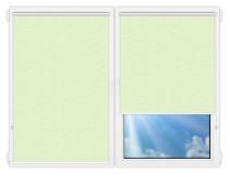 Рулонные шторы Мини - Флора-салатовый на пластиковые окна