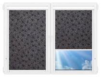 Рулонные кассетные шторы УНИ - Индра-блэк на пластиковые окна