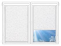 Рулонные кассетные шторы УНИ - Индра-вайт на пластиковые окна