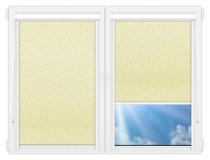 Рулонные кассетные шторы УНИ - Иви-ми-блэкаут на пластиковые окна