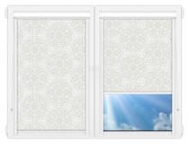 Рулонные кассетные шторы УНИ - Калипсо-белый на пластиковые окна