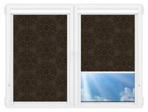 Рулонные кассетные шторы УНИ - Калипсо-кофе на пластиковые окна