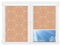 Рулонные кассетные шторы УНИ - Калипсо-персиковый на пластиковые окна