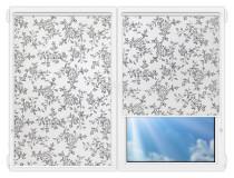 Рулонные шторы Мини - Китайская-роза-черный на пластиковые окна