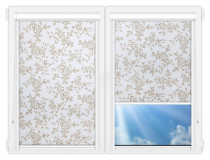 Рулонные кассетные шторы УНИ - Китайская роза коричневый