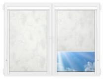 Рулонные кассетные шторы УНИ - Клаудиа-блэкаут-вайт на пластиковые окна