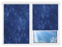 Рулонные шторы Мини - Клаудиа-индиго на пластиковые окна