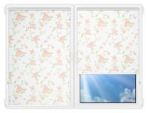 Рулонные шторы Мини - Крымская-роза-розовый на пластиковые окна
