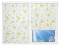 Рулонные шторы Мини - Крымская-роза-желтый на пластиковые окна