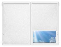 Рулонные шторы Мини - Ламьера-белый на пластиковые окна