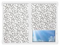 Рулонные шторы Мини - Ламьера-черный на пластиковые окна