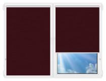 Рулонные шторы Мини - Лусто-бордовый на пластиковые окна