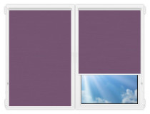 Рулонные шторы Мини - Лусто-фиолетовый на пластиковые окна
