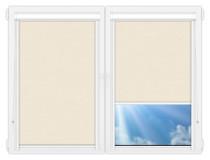 Рулонные кассетные шторы УНИ - Лусто-кремовый