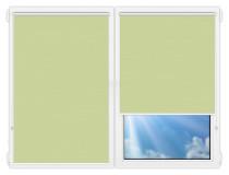 Рулонные шторы Мини - Лусто-салатовый на пластиковые окна