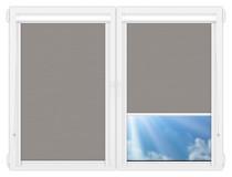 Рулонные кассетные шторы УНИ - Лусто-серый