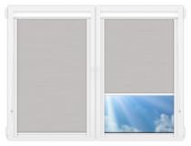 Рулонные кассетные шторы УНИ - Лусто-светло-серый