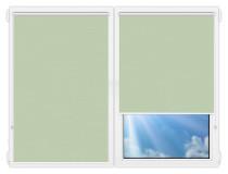 Рулонные шторы Мини - Лусто-светло-зеленый на пластиковые окна