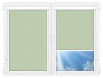 Рулонные кассетные шторы УНИ - Лусто-светло-зеленый