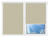 Рулонные шторы Мини - Лусто-темно-бежевый на пластиковые окна