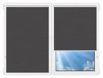 Рулонные шторы Мини - Лусто-темно-серый на пластиковые окна