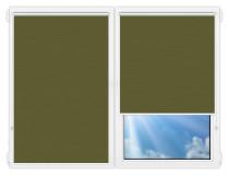 Рулонные шторы Мини - Лусто-темно-зеленый на пластиковые окна