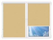 Рулонные шторы Мини - Лусто-желтый на пластиковые окна