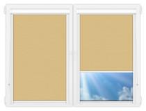 Рулонные кассетные шторы УНИ - Лусто-желтый