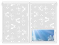 Рулонные шторы Мини - Махаон-вайт на пластиковые окна