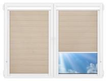 Рулонные кассетные шторы УНИ - Маракеш-блэкаут-бейж на пластиковые окна